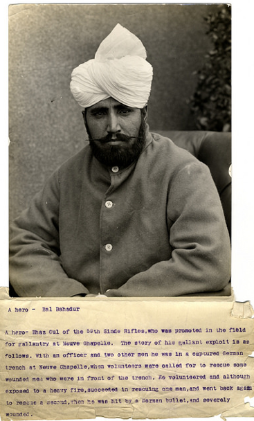 A hero - Bal Bahadur [Brighton, England]. Photographer: H. D. Girdwood.